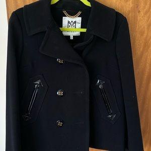 Milly light weight black jacket pea coat style